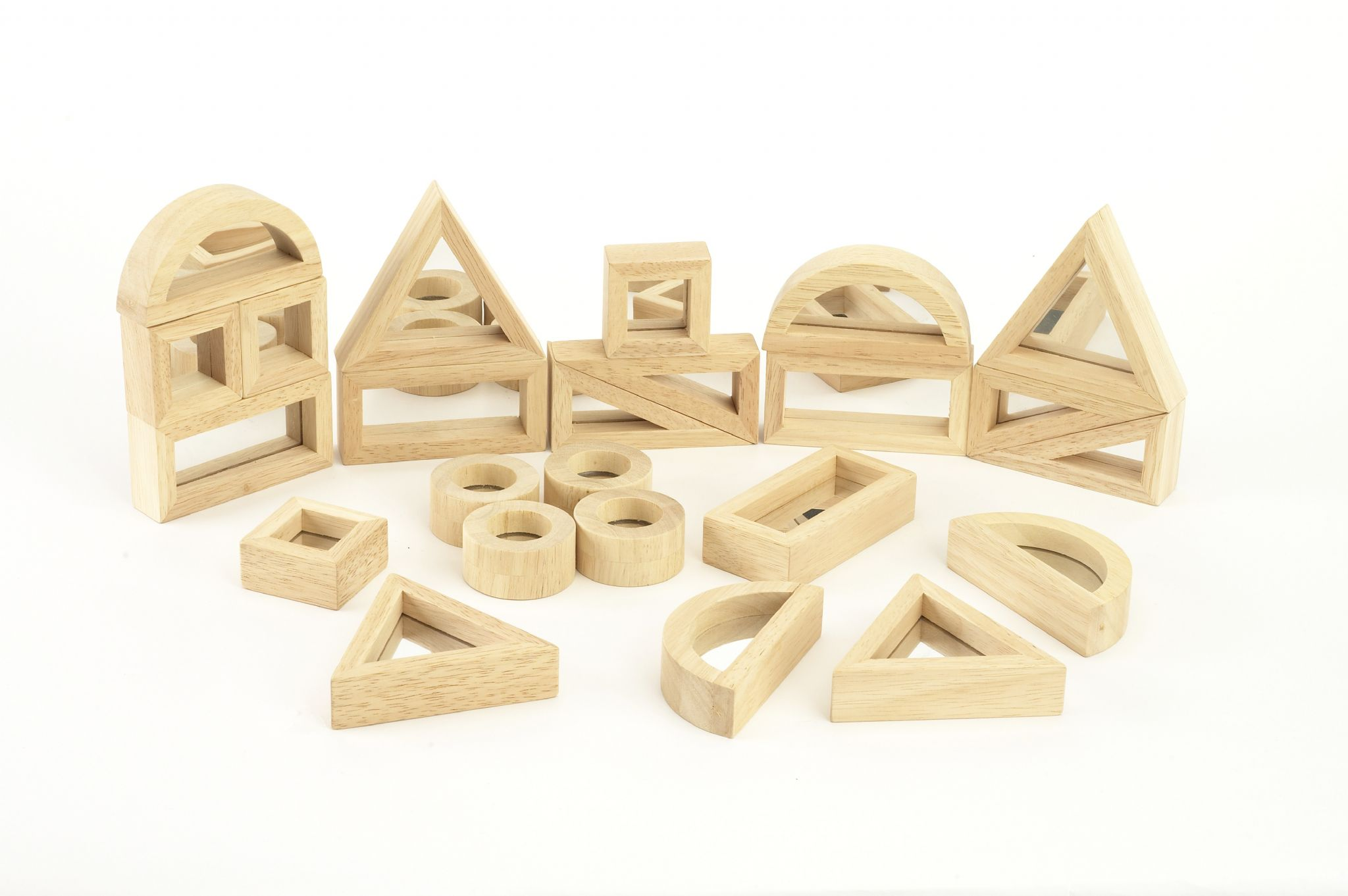 Block Set mirror block set mirror block set sensory toy warehouse